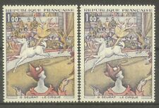 """FRANCE STAMP TIMBRE N° 1588A """" CIRQUE DE SEURAT, 2 COULEURS """" NEUFS xx TTB"""