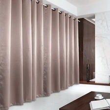 New Eyelet Blockout Curtain 130x230cm Light Brown Colour