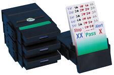 Bridge Partner Bidding Boxes - Black - Set of 4