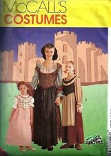 MCCALLS SEWING PATTERN 8449 OOP MISSES MEDIEVAL DRESS COSTUMES SIZES 16-18
