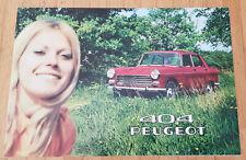 Peugeot 404 Berline - Prospekt Brochure Modelljahr 1970 (französisch)