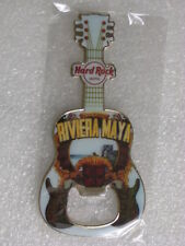 Hard Rock Cafe RIVIERA MAYA Guitar Bottle Opener Magnet V+