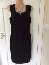Debenhams Black shift Fitted Work dress size 12  exc cond