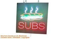 Subs Sign, TOPKING Signage, LED Neon Open, Store, Window, Shop, Business,Display