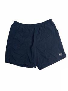 Speedo Men's Size Large Solid Blue Stiwm Trunks Swimsuit Shorts