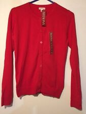 NWT Merona Favorite Cardigan in RED - Size X-SMALL XS EXTRA SMALL