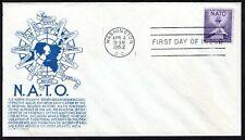 1008 3c NATO FDC Anderson blue cachet April 4,1952