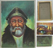 """Quadro Pittura olio M. MARIELLI - """" LA VECCHIA MARINA - IL COMANDANTE"""" - 2000"""
