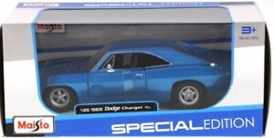 Maisto - 1969 Dodge Charger R/T - 1:25 - Diecast - Blue - Special Edition