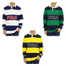 "Polo Ralph Lauren LS Long Sleeve Classic Fit Striped Rugby Polo Shirt w/ ""POLO"""