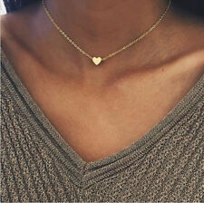 New Elegant Lady Tiny Heart Shaped Pendant Gold&Silver Clavicle Chain Necklace