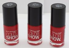3PK Maybelline Color Show Nail Polish Keep Up the Flame 250 .23 oz