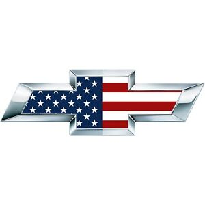 2 Classic American Flag US Universal Chevy Silverado Bowtie Vinyl Sheets Overlay