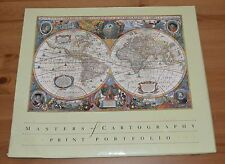 "Masters of Cartography Print Portfolio 8 - 13""x15"" world maps"