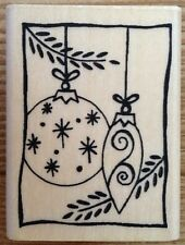 A Muse Art Stamps Hanging Ornaments Christmas Rubber Stamp 2-2035E Holiday Amuse