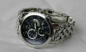 Citizen E870 Calibre 8700 Blue Face Watch - Runs Great, Good Condition!