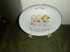 "Kewpie Doll Collector's Edition Plate ""Love To You"" Gold Trim"
