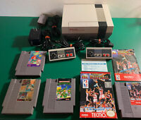 Original Nintendo NES Console Bundle,2 Controllers, 4 Games, Tested Works Great