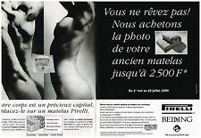 Publicité Advertising 1994 (2 pages) Les Matelas Pirelli Bedding