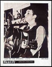 BOB DYLAN REPRO 1961 NEW YORK GERDES FOLK CITY 11 APR CONCERT POSTER