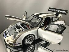 Minichamps Porsche 911 (997) GT3 Cup Dealer Edition White Gold Diecast Car 1/18