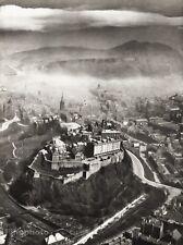 1934 Vintage 11x14 SCOTLAND Edinburgh Castle Landscapen Photo Art Alfred Buckham