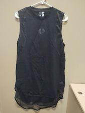 New Adidas NHL Chicago Blackhawks ID Long Tee Small Womens Black DX7931