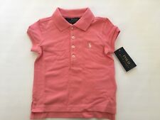 Polo Ralph Lauren Girls Classic Polo Shirt Size 2 / 2T Pink Short Sleeve Nwt
