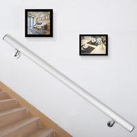Aluminum Modern Handrail for Stairs 4ft Length White TERRIFIC VALUE EXCELLENT