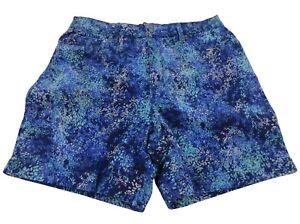 Gloria Vanderbilt Women's Size 8 Shorts Marine Navy Speckle Floral High Rise