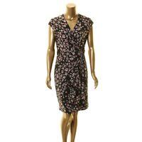 ANNE KLEIN NEW Women's Surplice Printed Sheath Dress TEDO