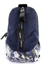 Diesel D-RUBBER BACK Rucksack Herren Damen Backpack Crossbody Jeans Denim B4