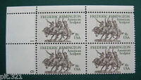 Sc # 1934 ~ Plate # Block ~ 18 cent Frederic Remington Issue (cg15)