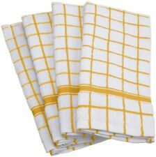 Cotton Kitchen Terry Towels Yellow 4/pack