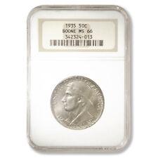 USA 1935 Daniel Boone Commemorative Half Dollar NGC MS 66