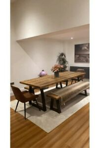 Bespoke handcrafted dining table sets length 160cm ( Table and 2 benches)