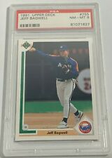 1991 UPPER DECK JEFF BAGWELL #755 ROOKIE RC HOUSTON ASTROS PSA 8 NM-MINT (DR)