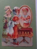 Oblaten, Bambini, Mode Specchio, 7 cm x 9,5 cm Anno 1900 (61045)
