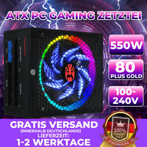 ATX Power Supply Fully Modular Active PFC 80+ Gold Certified with RGB Light Mode