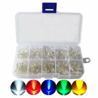 LED Diode Kit,3mm 5mm LED Lights Emitting Diodes Assorted Clear Bulbs with H8T1