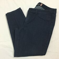 Womens American Rag Skinny Jeans Stretch Size 18 Short Center Seam Dark Wash