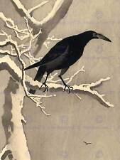 JAPAN NATURE CROW TREE SNOW Shoson Ohara POSTER ART PRINT PICTUR BB49B