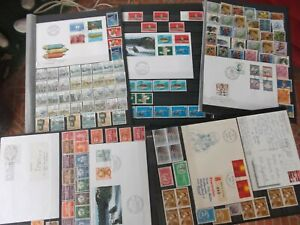 timbres suisse lot 1904 sur 5 panneaux