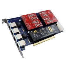 TDM410P 4 Port FXO Card Echo Hardware Asterisk Card tdm400 freepbx elastix dahdi