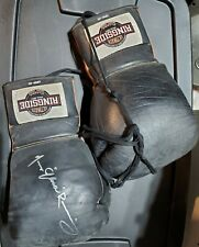 Marcos Ramirez autographed training/fight worn boxing gloves IBF Latino Champ
