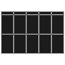 More details for 15-panel folding exhibition display wall 302x200cm black show board
