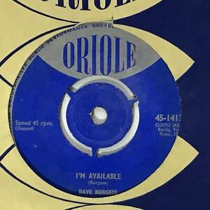 DAVE BURGESS I'm Available   1950s UK Oriole Pop 7""