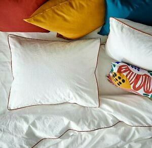NEW Ikea Kungsblomma KING Duvet Cover w/2 Pillowcases Bed Set White Red