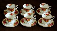 SET DI 6 TAZZE DA CAFFè IN PORCELLANA ROYAL ALBERT OLD COUNTRY ROSES ENGLAND