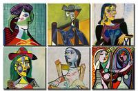 TIME4BILD PABLO PICASSO Portrait Print Canvas 6 BILDER LEINWAND GICLEE ART KUNST